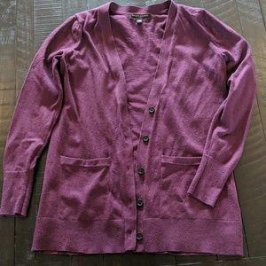 Banana Republic Purple V-neck Cardigan - EUC